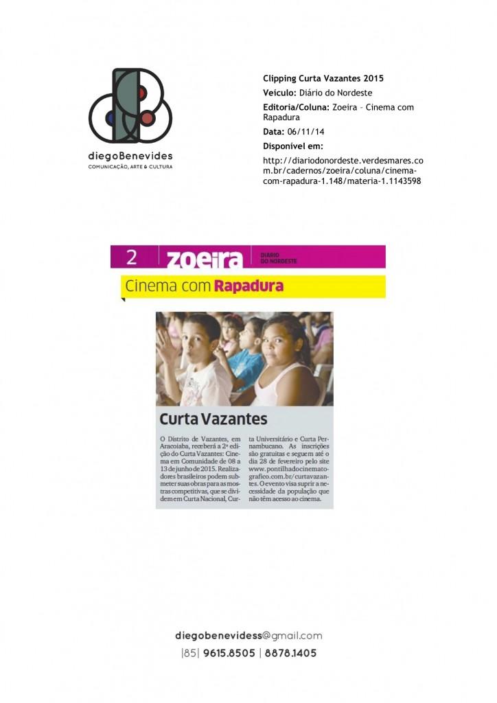 Curta Vazantes - Diário do Nordeste - Zoeira_061114