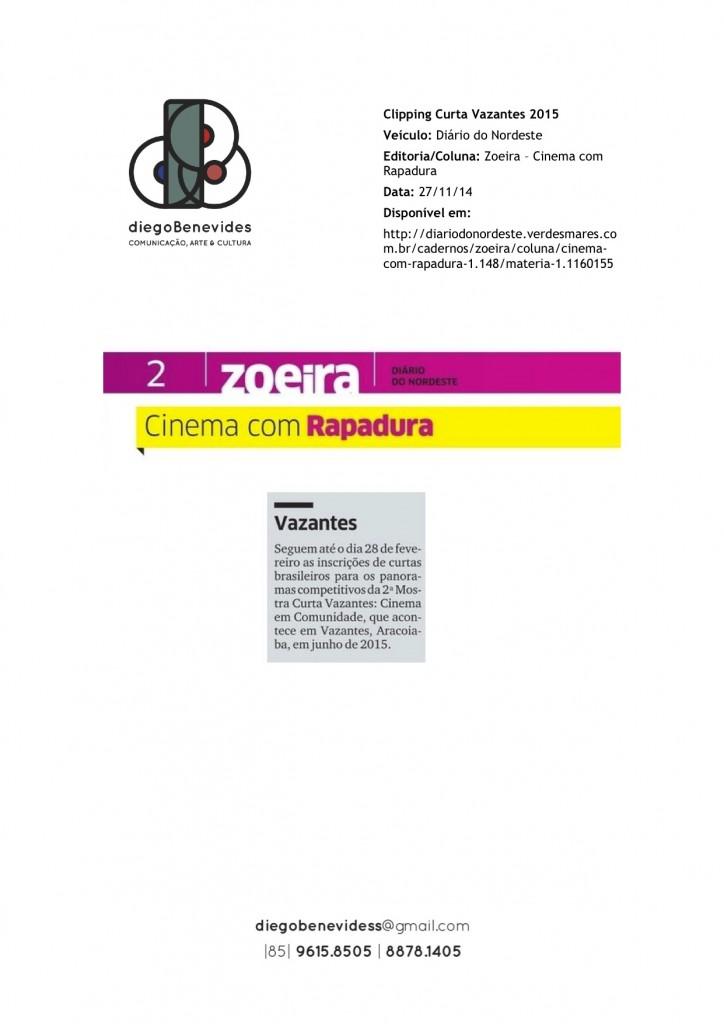 Curta Vazantes - Diário do Nordeste - Zoeira_271114